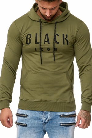 MEN'S BLOUSE BLACK ICON -KHAKI 52004-3