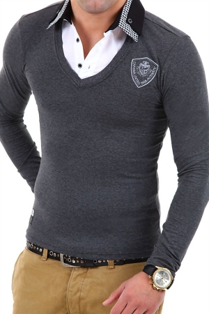 CRM MEN'S BLOUSE - GRAY 7920-1