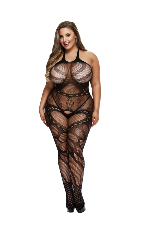 BACI BODYSTOCKING JUODA MODEL 50008-34
