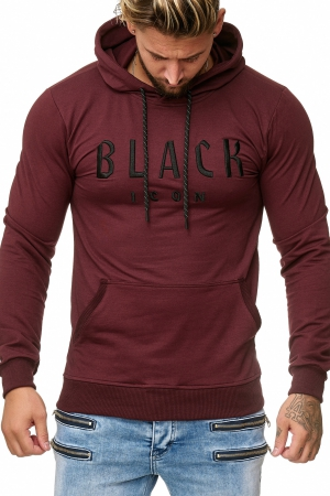 MEN'S BLOUSE BLACK ICON - bordo 52004-2
