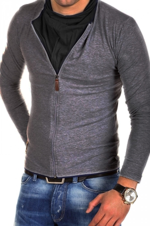 MEN'S BLOUSE CRM - DARK GRAY 7921-1