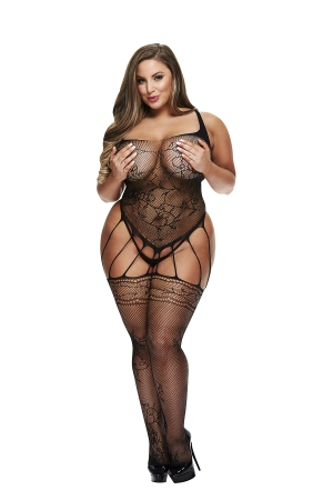 BACI BODYSTOCKING JUODA MODEL 50008-41